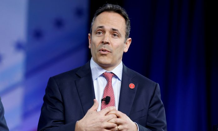 Republican Governor Matt Bevin of Kentucky speaks during the Conservative Political Action Conference (CPAC) in National Harbor, Maryland, on Feb. 23, 2017. (Joshua Roberts/Reuters)