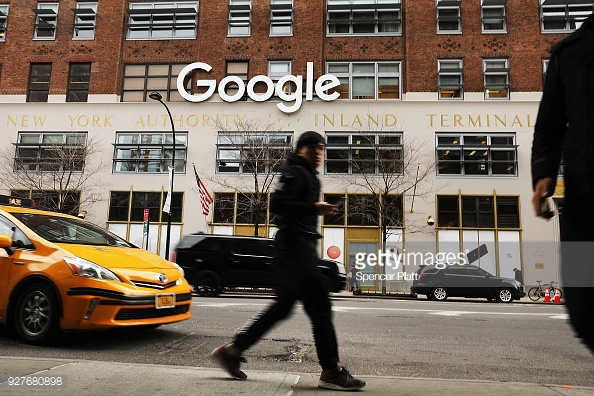 NEW YORK, NY - MARCH 05: Google's New York office is shown in lower Manhattan on March 5, 2018 in New York City.  (Photo by Spencer Platt/Getty Images)