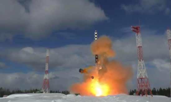 Russia Test-Launches 'Satan 2' Nuclear-Capable Long-Range Missile