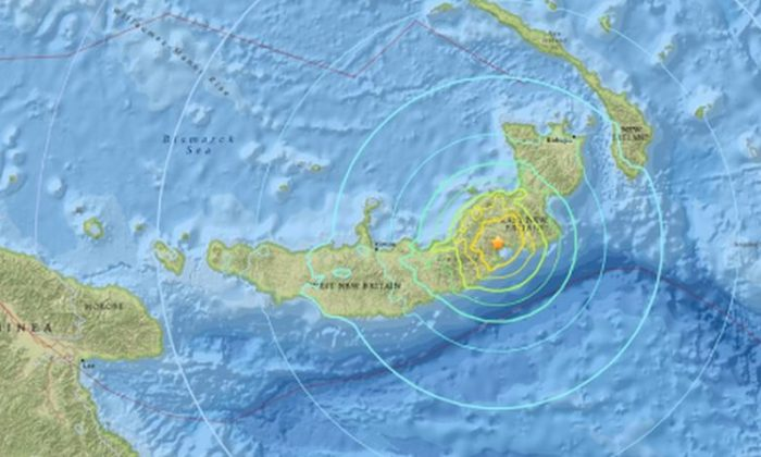 Large earthquake strikes off Papua New Guinea