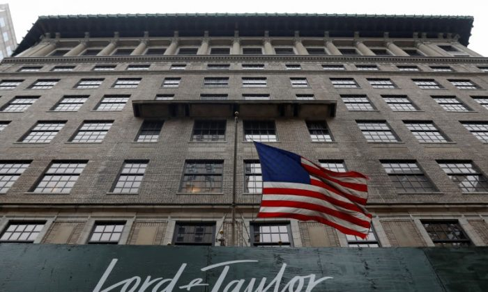 The Lord & Taylor flagship store building on Fifth Avenue in Manhattan, New York City, on Oct. 24, 2017. (REUTERS/Shannon Stapleton)