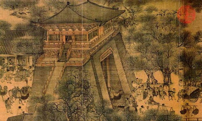 """One section of """"Along the River During the Qingming Festival,"""" Zhang Zeduan (1085–1145). (All photos Public Domain)"""