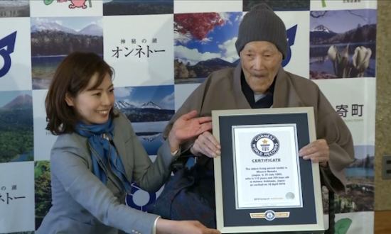 112-Year-Old Japanese Man Recognized by Guinness as Oldest Man Alive