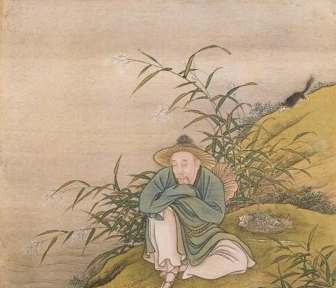 """The Emperor depicted as a fisherman. From """"Album of the Yongzheng Emperor in Costumes,"""" by anonymous court artists, Yongzheng period (1723–1735). One of 14 album leaves, color on silk. The Palace Museum, Beijing. (Public Domain)"""