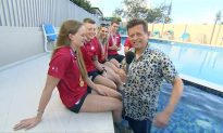 BBC Presenter Falls Into Swimming Pool During Live Interview
