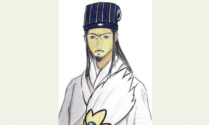 Illustration of Zhuge Liang by Sng Chen Chen/Epoch Times.