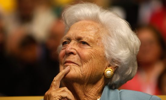 Former first lady Barbara Bush attends day two of the Republican National Convention (RNC) at the Xcel Energy Center in St. Paul, Minnesota on Sept. 2, 2008. (Scott Olson/Getty Images)