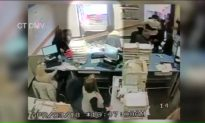 Video Shows Driver Crashing Through DMV Window While Taking Test