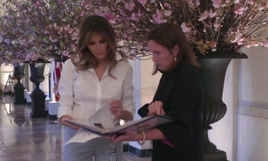 Hasil gambar untuk First Lady Melania Trump Prepares for France's State Visit