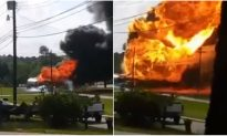 Man Keeps Filming as Giant Fireball From Burning Gas Truck Draws Closer and Closer