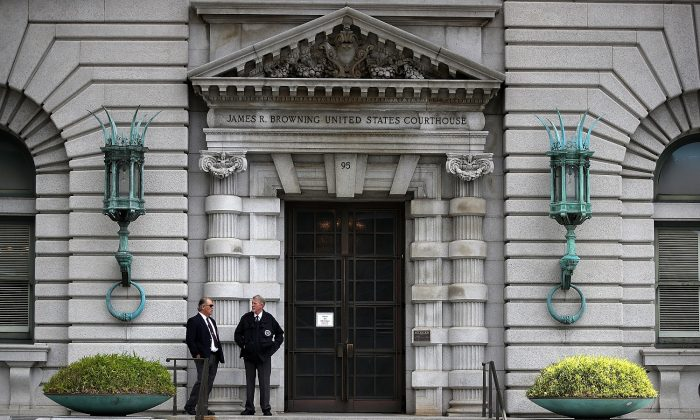 The Ninth U.S. Circuit Court of Appeals in San Francisco on June 12, 2017. (Justin Sullivan/Getty Images)