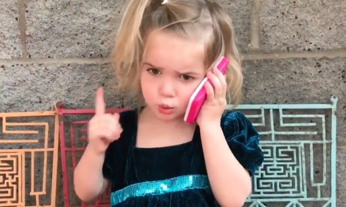 Little girl saw 'boyfriend' at park with another girl—once she starts yelling on phone—I'm laughing