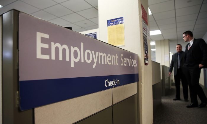 A New York Labor Department office in Manhattan on March 6, 2015. (Spencer Platt/Getty Images)