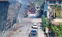 Scaffolding Collapses After Fire Engulfs Under-Construction Building in California