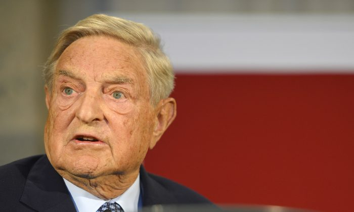 Billionaire George Soros speaks in Berlin on September 10, 2012. (DD ANDERSEN/AFP/GettyImages)