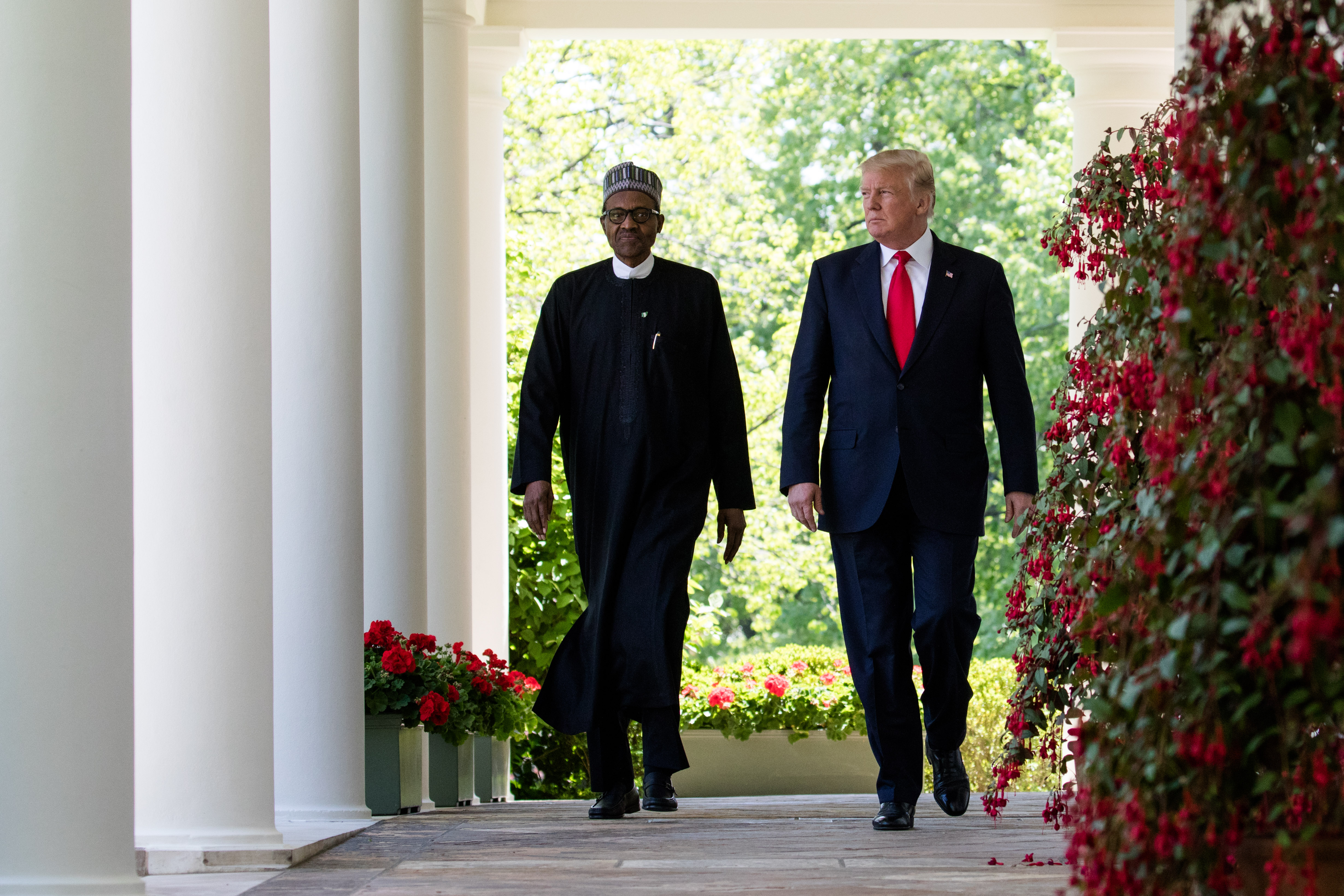 Nigerian President 'Not Sure' if President Trump Made Slurs About Developing Countries