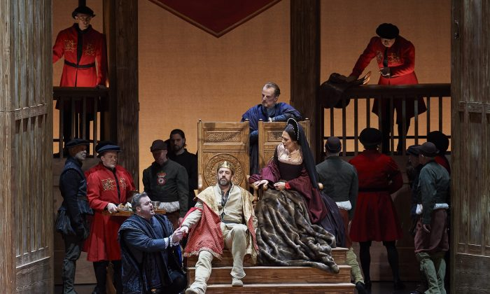 "A scene from the Canadian Opera Company's production of ""Anna Bolena."" (Michael Cooper)"