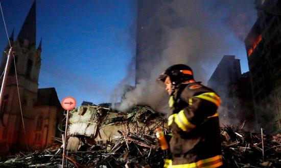 Brazil Fire: Sao Paulo Tower Block Collapses in Huge Blaze