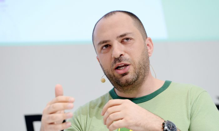 Jan Koum, the CEO and co-founder of WhatsApp speaks at the Digital Life Design conference on Jan. 18, 2016, in Munich, south Germany. (Tobias Hase/AFP/Getty Images)