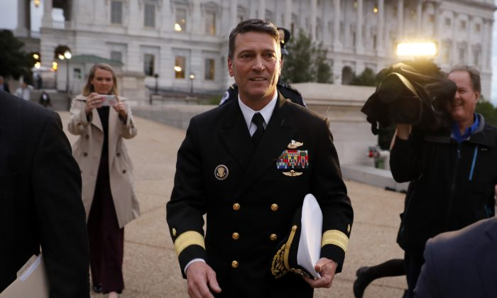 Ronny Jackson won't return to job as Trump's physician