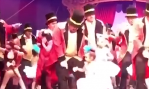 Little girl was born deaf. But when she gets put onstage—that's when the magic happens