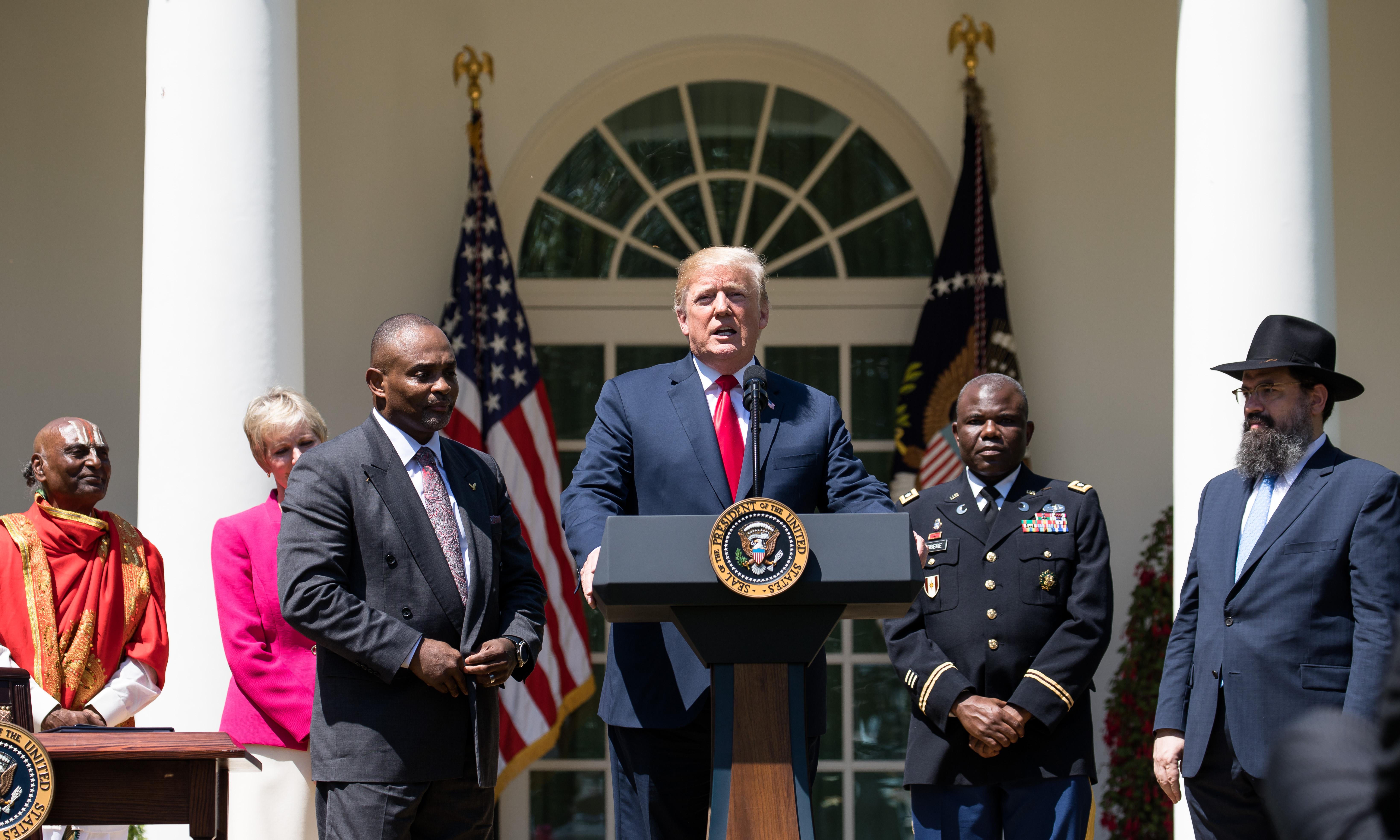 Donald Trump vows to defend religious freedoms 'always'