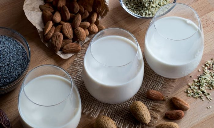 Plant-based milks made from nuts, seeds and peas are becoming big business.(Shutterstock)