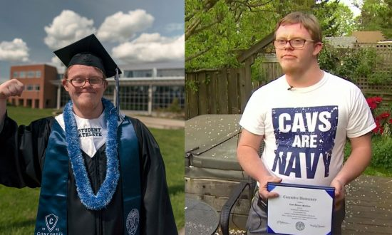 Student with Down syndrome graduates from college—but when he walks across the stage—It's historic