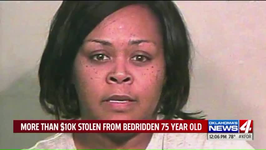 Oklahoma Caretaker Accused of Stealing $10,000 from Elderly