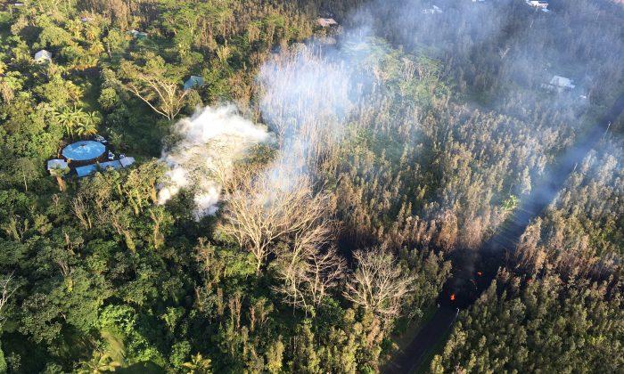 An area near the Kilauea Volcano May 3, 2018.  (USGS/via Reuters)
