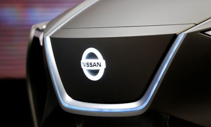 The logo of Nissan is seen during the 88th International Motor Show at Palexpo in Geneva, Switzerland, March 6, 2018. (Pierre Albouy/Reuters)
