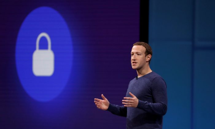 Facebook CEO Mark Zuckerberg speaks at Facebook Inc's annual F8 developers conference in San Jose, California, U.S. May 1, 2018. (Reuters/Stephen Lam/File Photo)