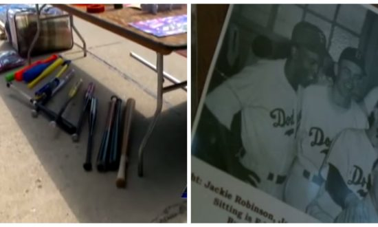 Man sees old baseball bat selling for a dollar, but what's on the handle—he takes owner aside