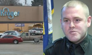 Police officer confronts shoplifter, but when officer sees what's been stolen—he can't do it