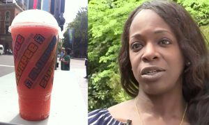 Woman suddenly craves a Slurpee. But on her way to buying one—she sees something absolutely crazy