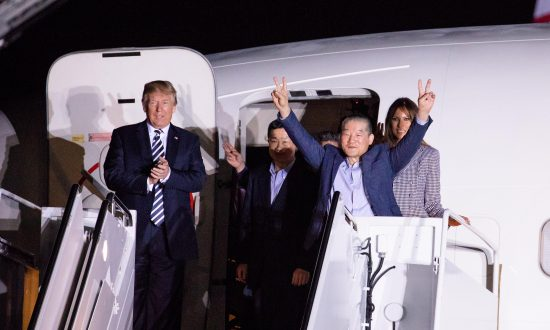 3 American Prisoners, Now Free, Greeted by Trump