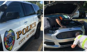 Officer hears a weird sound coming from her car—she immediately realizes that she's not alone