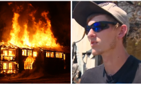 Teen in his car when he spots tornado of flames, his next move—woman starts screaming