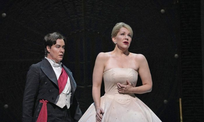"Alice Coote (L) as Prince Charming and Joyce DiDonato in the title role of Massenet's ""Cendrillon."" (Ken Howard / The Metropolitan Opera)"