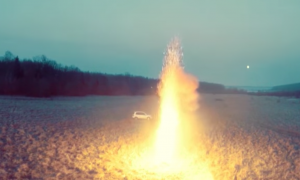 Man buys 10,000 sparklers. When he crazily lights them all up at once—my jaw drops
