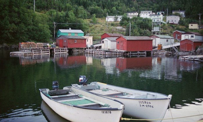 Boats at rest in Snook's Arm, N.L., in an undated photo. The outport's community of 10 was approved for relocation in November 2017. (The Canadian Press/HO, Edwin Neeleman)