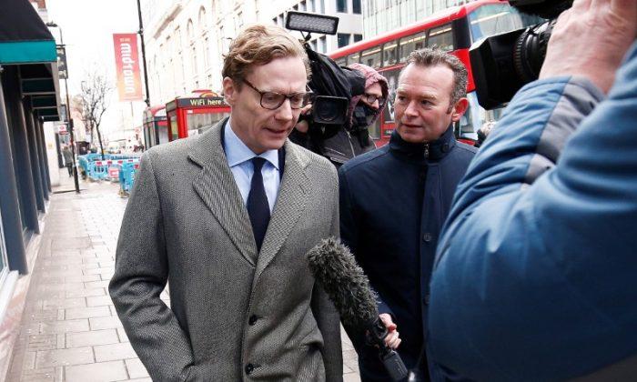 Alexander Nix, CEO of Cambridge Analytica arrives at the offices of Cambridge Analytica in central London, Britain, March 20, 2018. File photo. (Reuters/Henry Nicholls)
