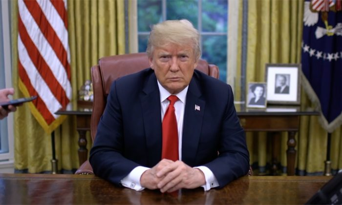 President Trump in the Oval Office at the White House. (Courtesy of the White House)