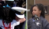 Young Girl Spreads Hugs to Support Law Enforcement Officers Countrywide