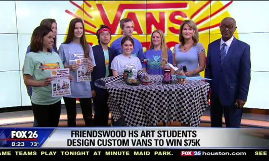 Custom Vans Shoes Designed by Friendswood High School Pose to Win $75,000