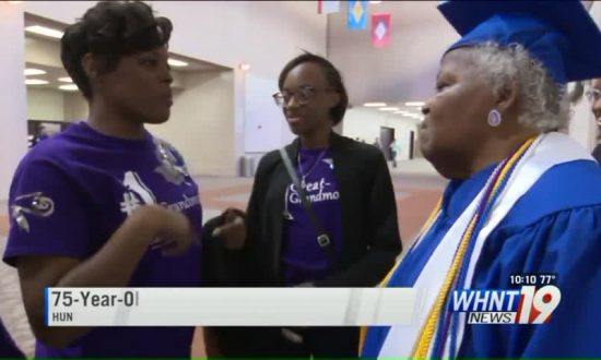 75-Year-Old Great-Grandmother Graduates from College in Alabama