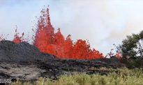 Fountain of Lava Spews at Fissure Near Hawaii's Kilauea Volcano