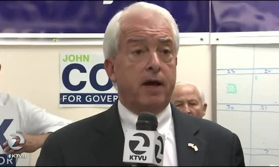 Cox Claims Second Place in Governor Poll