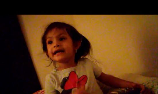 Little Girl Composes Song for Dad and Plays With Ukulele — the Lyrics Have the Father Laughing out Loud