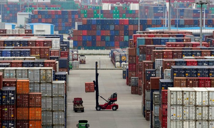 Containers are seen at the Yangshan Deep Water Port in Shanghai, China on April 24, 2018. (Aly Song/File Photo/Reuters)